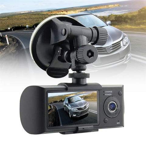 Car DVR Dash Camera R300 GPS DUAL CAMCORDER