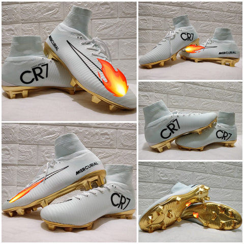 CR7 NIKE ANKLE WHITE FOOTBALL BOOT
