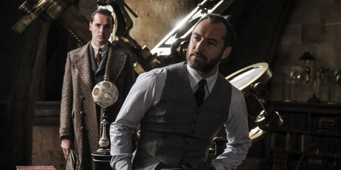 Jude Law prepares his role as Dumbledore in the film Fantastic Animals