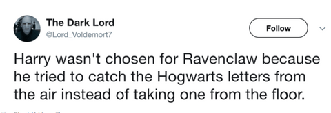 Tweet Harry Potter