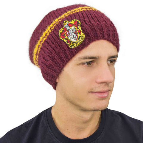 Bonnet tombant Harry Potter effet slouchy - Gryffondor Pourpre et Or