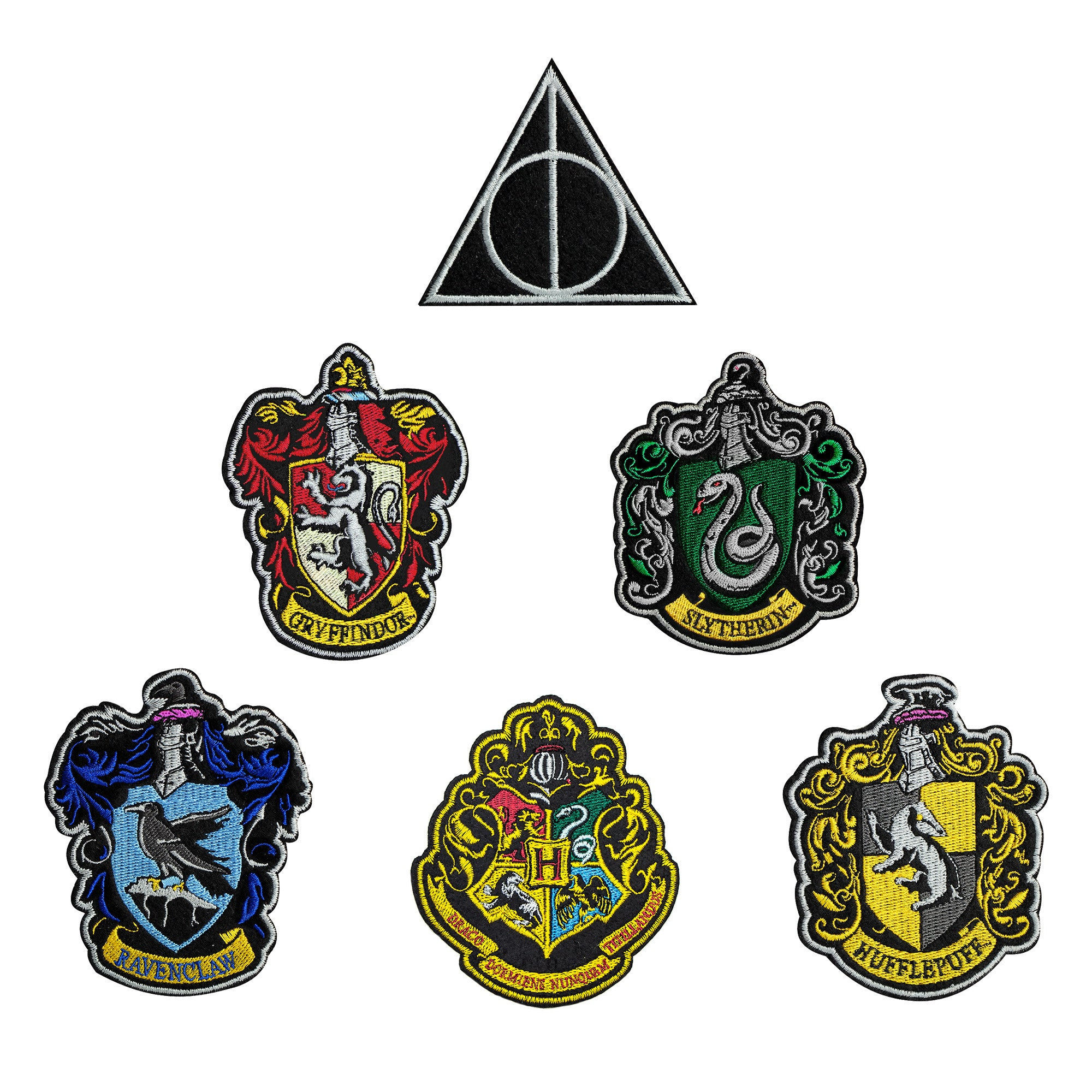 Harry Potter Patches Hogwarts Houses Deathly Hallows