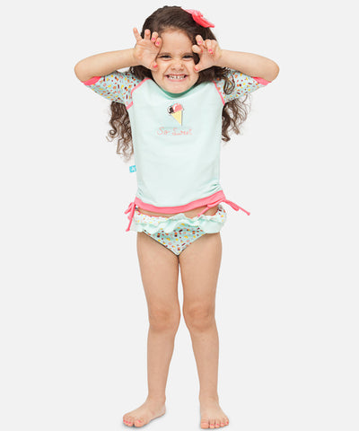T-shirt Anti-UV - Maillot de bain bébé & enfant - Fille - Ice Cream
