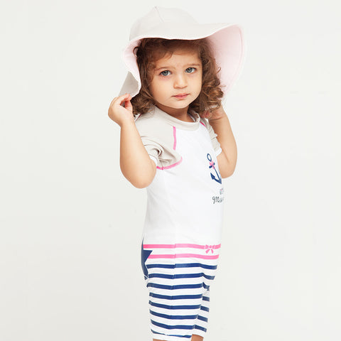 Chapeau Reversible fille Anti-UV - St Tropez