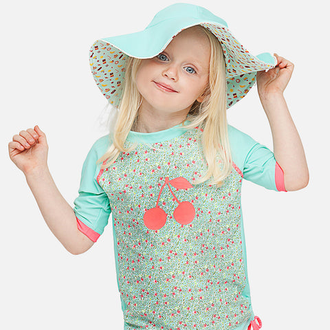 Chapeau Reversible fille Anti-UV - Ice cream