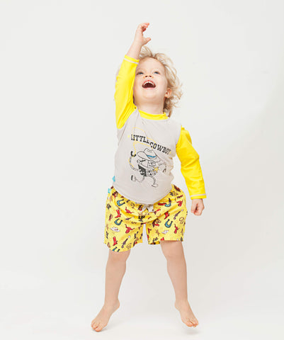T-Shirt Anti-UV - Maillot de bain bébé & enfant - Little Cowboy