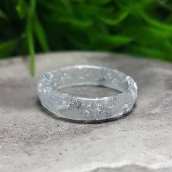 Silver resin ring