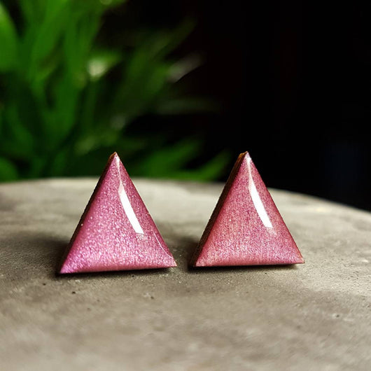 Burgandy wood studs