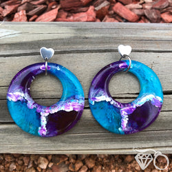 ArtWear Galaxy one of a kind large hoop earrings