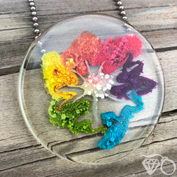 ArtWear Rainbow Starfish one of a kind statement necklace