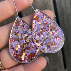 Antique Teardrop statement glitter earrings