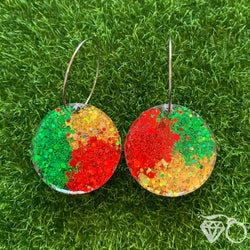 Christmas hoops - Red, green and gold
