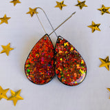 Magical Christmas Teardrop statement glitter earrings