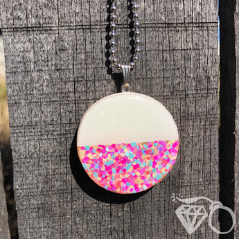 Fairy Bread wooden pendant