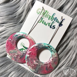 ArtWear Peppermint Candy statement earrings