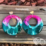 ArtWear CUSTOM one of a kind large hoop earrings