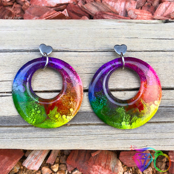 ArtWear Rainbow Brite statement earrings