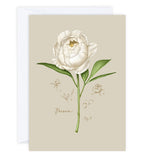 Botanical greeting card