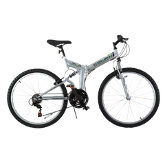 Stowabike 26- Folding Dual Suspension Mountain Bike 18 Speed