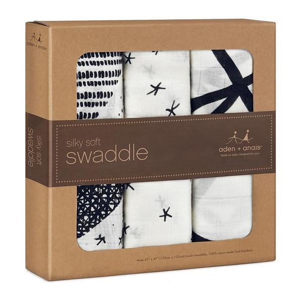 Midnight Silky Soft Swaddle Aden Anais | My Baby Star
