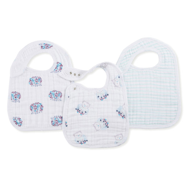 Aden and Anais Classic Snap Bibs Thistle 3Pk