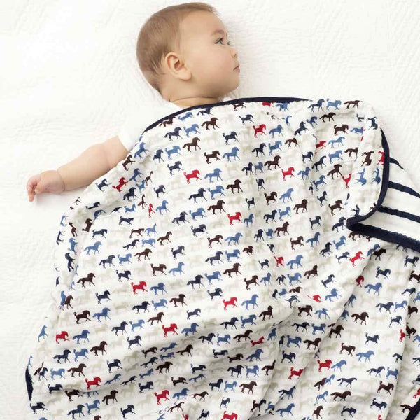 Aden and Anais Classic Dream Blanket Wild Horses