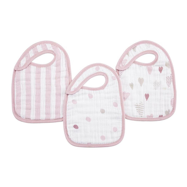 Aden and Anais Classic Snap Bibs Heart Breaker 3Pk