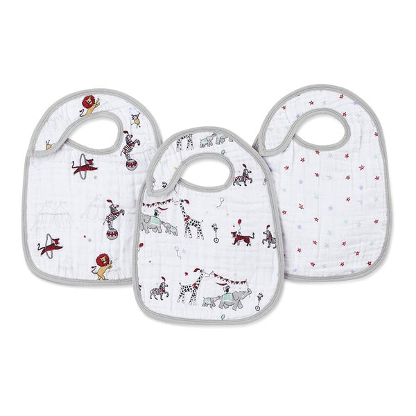 Aden and Anais Classic Snap Bibs Vintage Circus