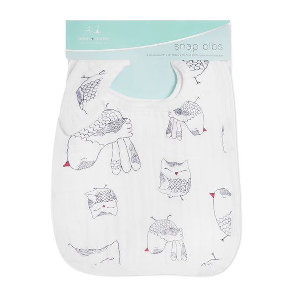 Aden and Anais Classic Snap Bibs Lovebird 3Pk