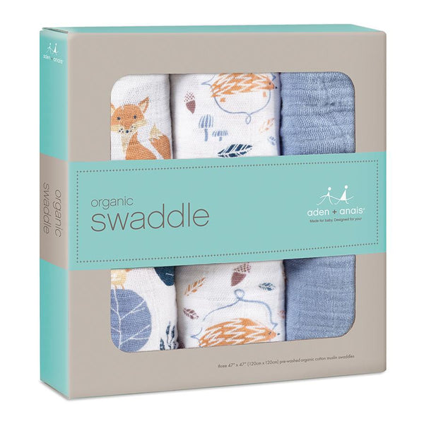 Aden and Anais Organic Swaddles Into the Woods