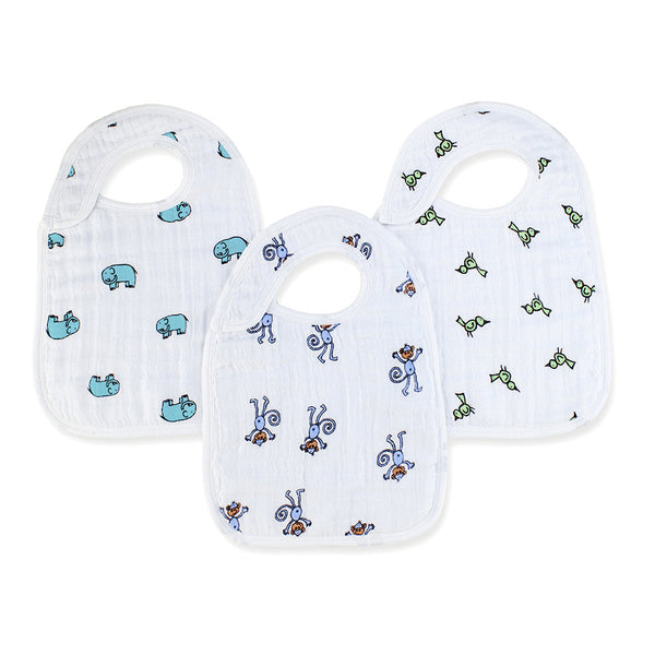 Aden and Anais Classic Snap Bibs Jungle Jam 3Pk