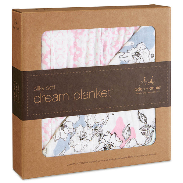 Aden and Anais Silky Soft Blanket Meadowlark