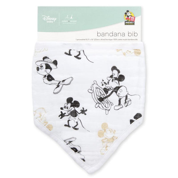 Aden + Anais Mickey's 90th Classic Metallic Bandana Bib limited edition