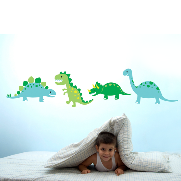 Speckled House Dinosaurw Stomp Wall Decal