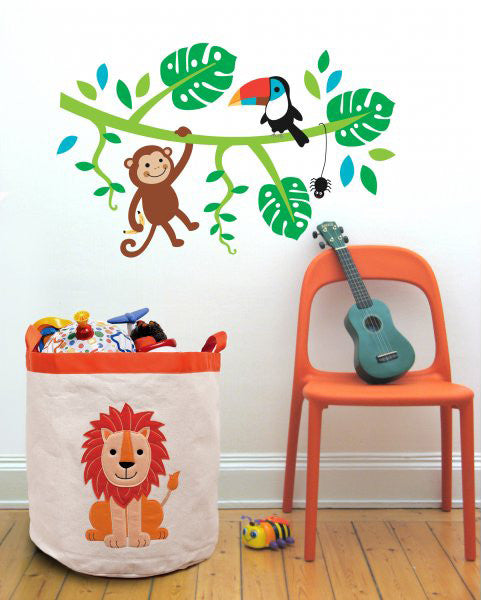 Speckled House Jungle Friends Wall Decal