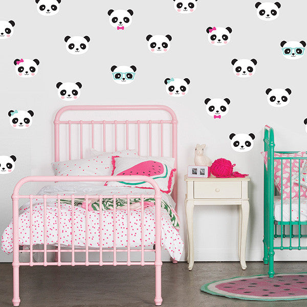 Speckled House Panda Love Wall Decal