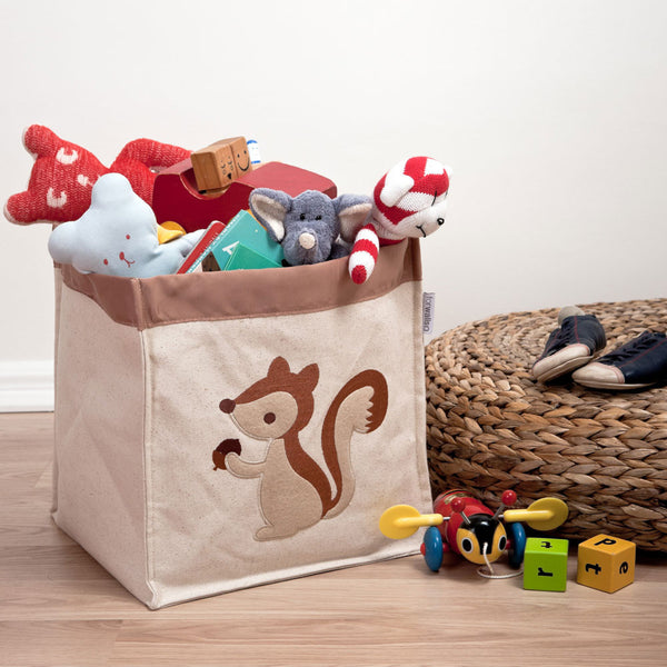 Speckled House Medium Squirrel Canvas Storage Hamper