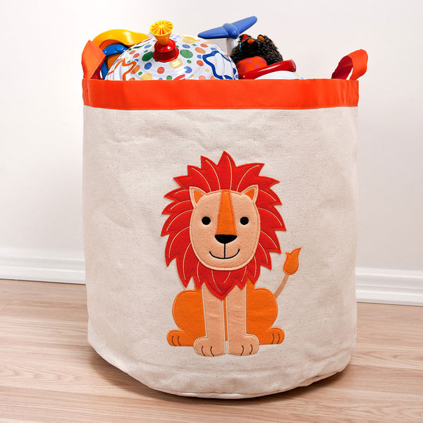 Speckled House Lion Canvas Storage Hamper