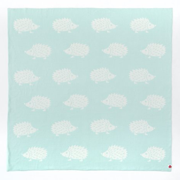 Speckled House Hedgehog Organic Cotton Blanket