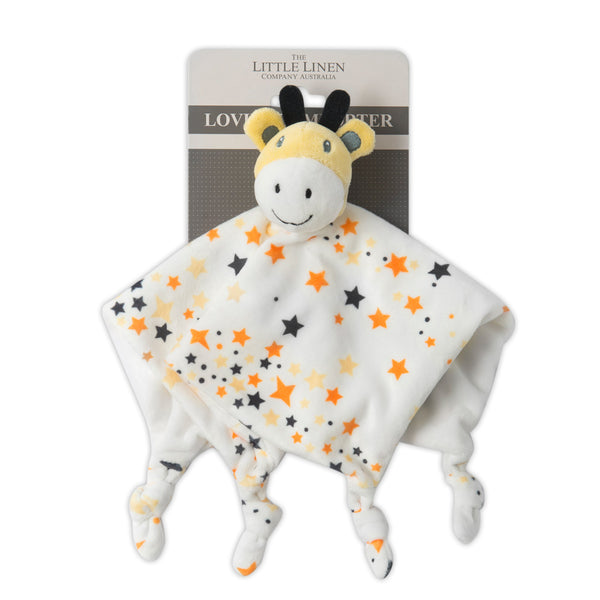 The Little Linen Co Lovie/Comforter - Giraffe Star