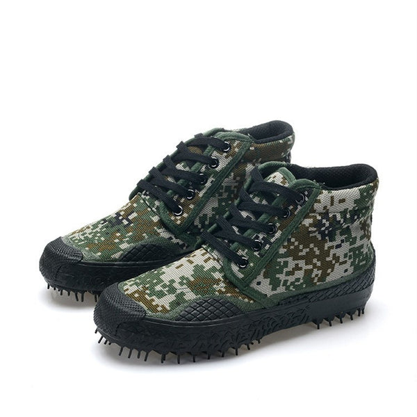 Camouflage Military Trendy Tactical Canvas Army Combat Boots - Monroe Apparel