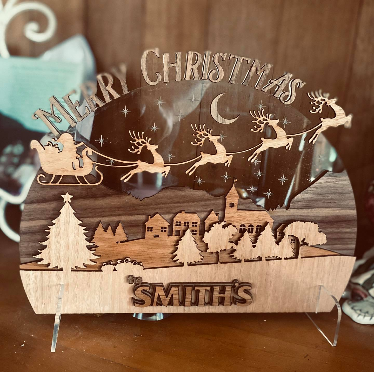 Merry Christmas Layered Sign (customised)