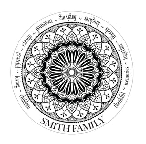 Family Mandala Design (round boards only)