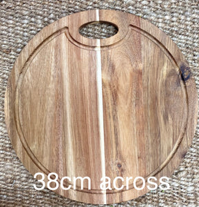 Round board with inside handle