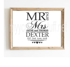Mr & Mrs Dexter Design