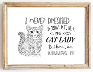 Cat Lady design