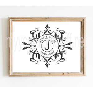 Circle Monogram Couple - Design