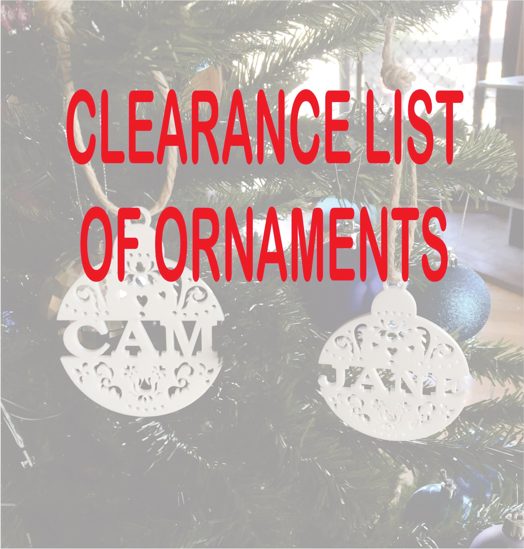 CLEARANCE Single Line Ornament