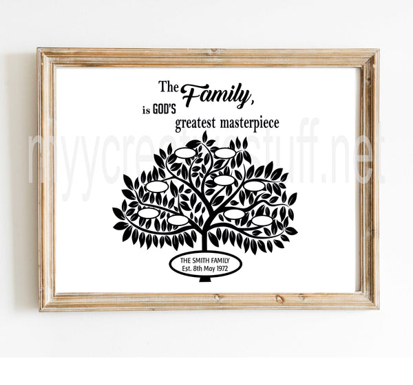 Family Tree God's Masterpiece design