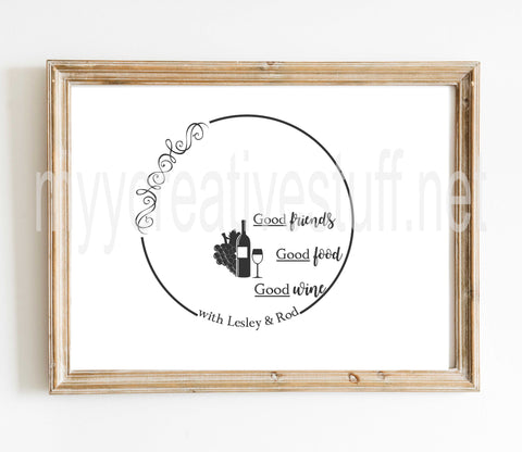 Good Food Friends Design 2